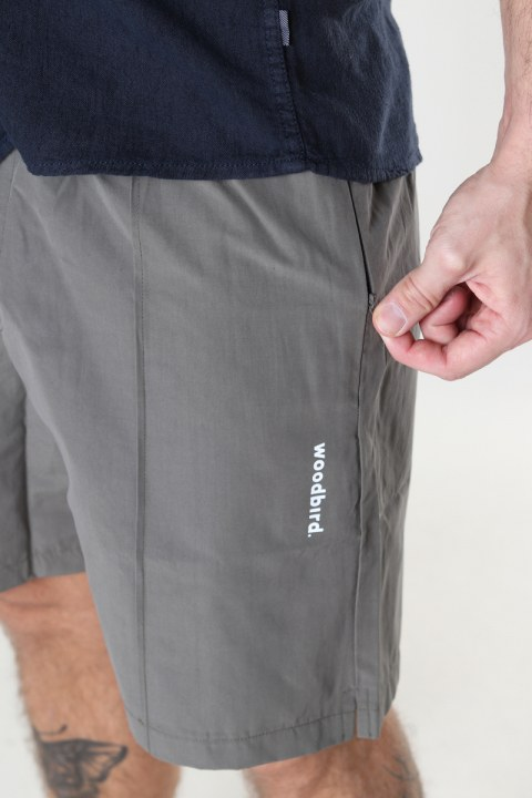 Woodbird Hansi Track Shorts Antra Grey