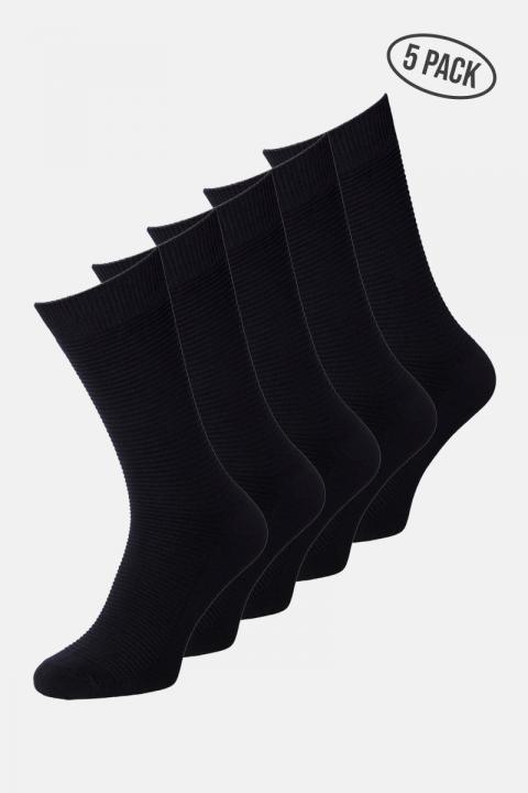 Jack & Jones JACJENS SOCK 5 PACK NOOS Black Black & Black & Black & Black