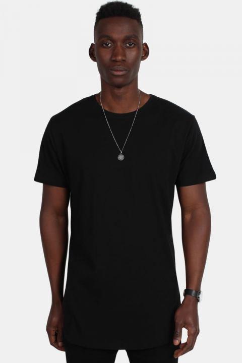 URBAN CLASSICS Shaped Long Tee Black