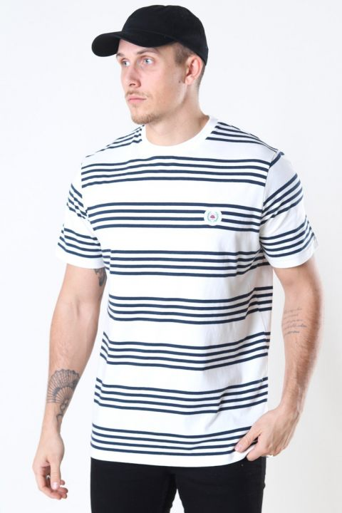 Woodbird Our Jarvis Stripe Tee Sand