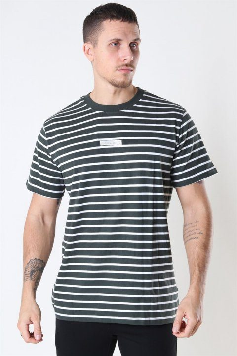 Woodbird Menak Stripe T-shirt Army-Kit