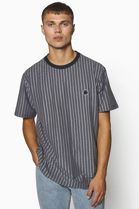 Woodbird Jabi Milk Stripe Tee Navy