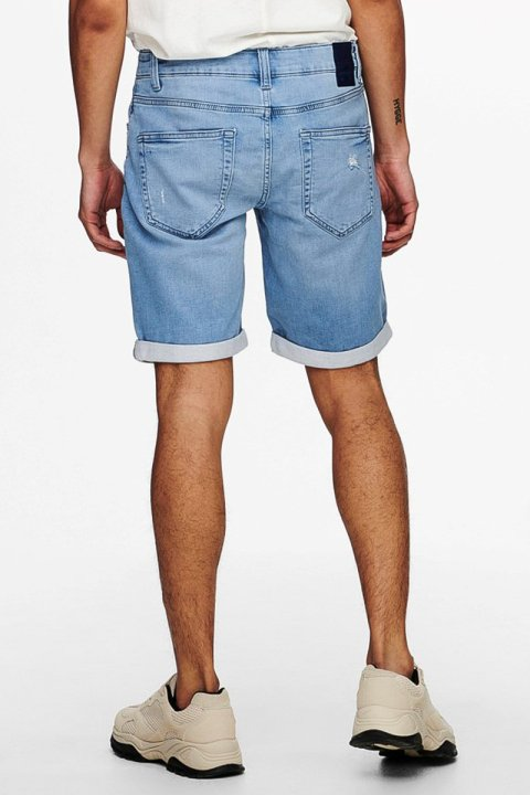 ONLY & SONS ONSPLY LIFE REG L BLUE JOG PK 9087 Blue Denim