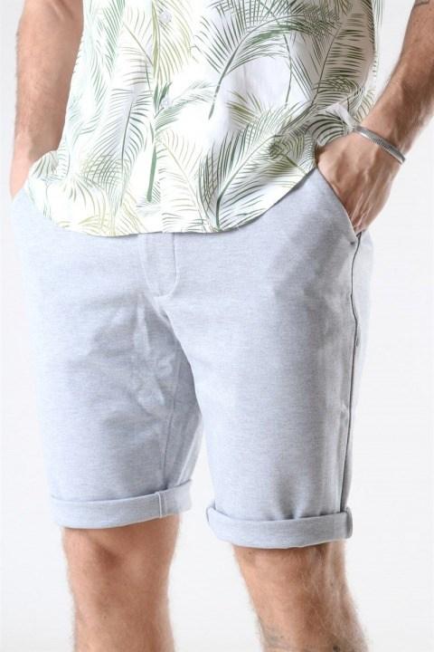 Denim Project Ponte Shorts Light Grey Melange