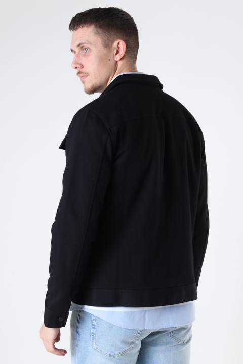 Jack & Jones JPRBLADEXTER SWEAT TRUCKER JACKET Black SLIM FIT