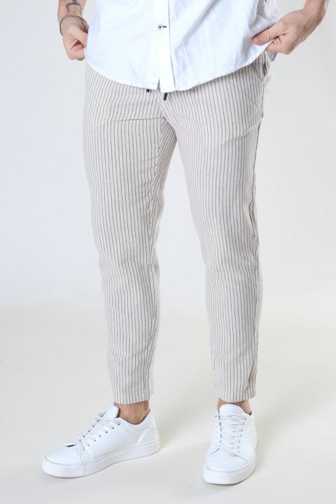 ONLY & SONS ONSLINUS LIFE CROP TAP PANT GW 9199 Raw Cotton