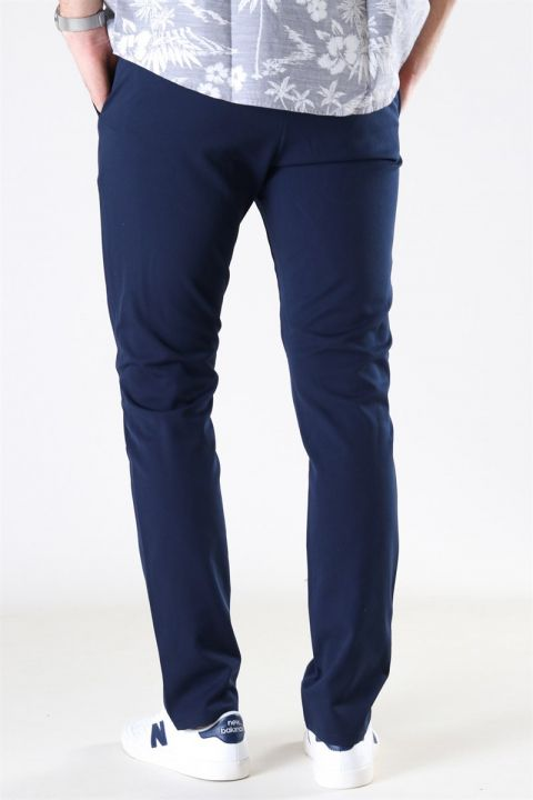 Woodbird Steffen Twill Pant Midnight Blue