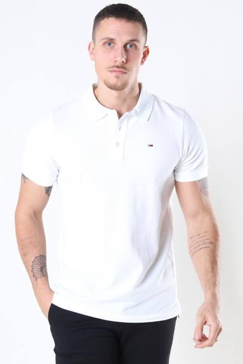 Tommy Jeans Original Fine Pique Polo SS White Men