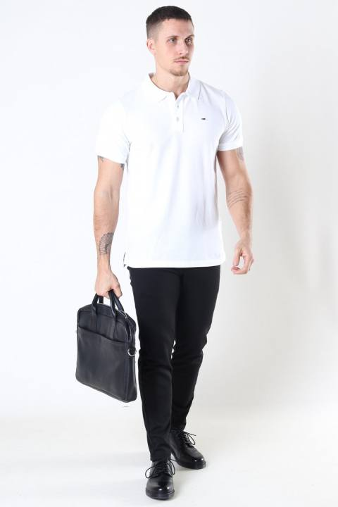 Tommy Jeans Original Fine Pique Polo SS White Men