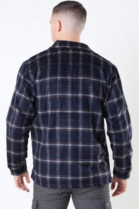 Woodbird Glixto Check Overshirt Navy