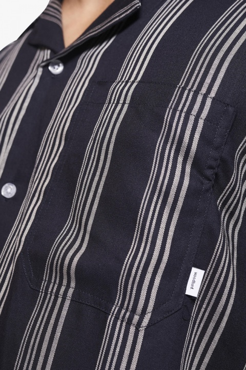 Woodbird Chine Seal Shirt Navy-White