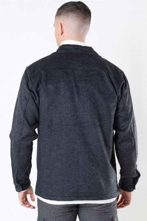 Woodbird Glixto Wool Overshirt Grey
