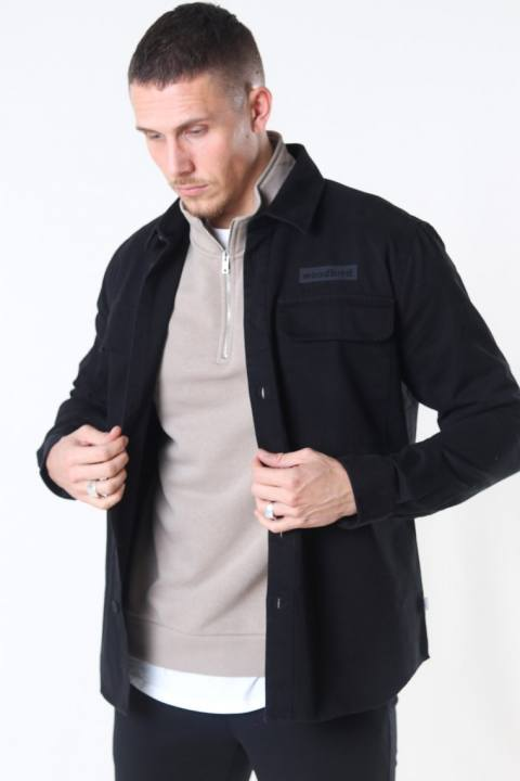 Woodbird Hoxen Work Overshirt Black