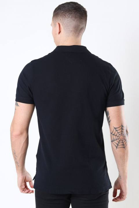 Tommy Jeans Original Fine Pique Polo SS Black Men