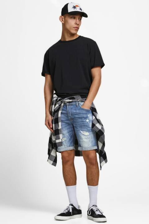 Jack & Jones JJIRICK JJFOX  SHORTS GE 740 STS Blue Denim