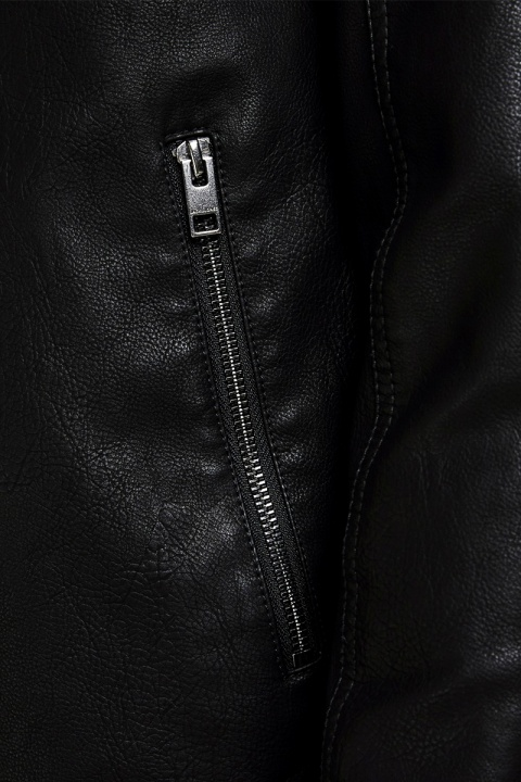 Jack & Jones JORNOLAN BIKER JACKET NOOS NS B-12 BLACK