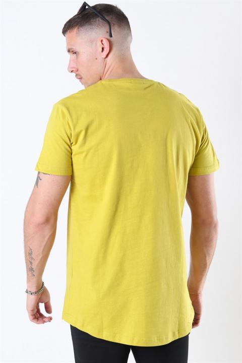 URBAN CLASSICS Shaped Long Tee Lemon Mustard