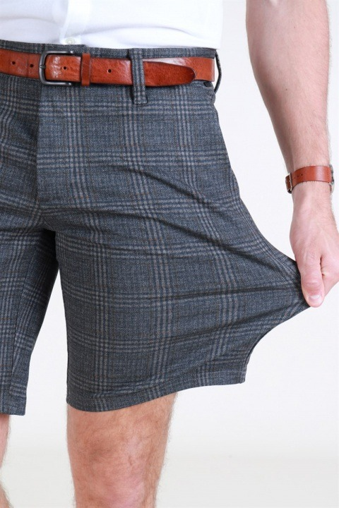 Only & Sons Mark Check Shorts GW 5155 Dark Grey Melange