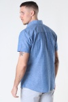 Selected SLHSLIMNEW-LINEN SHIRT SS CLASSIC W Medium Blue Denim