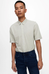ONLY & SONS ONSCUTON LIFE SS ORGANIC PIQUE SHIRT Chinchilla