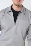 Jack & Jones JPRBLAPETROL SWEAT HALF ZIP Elephant Skin REG FIT