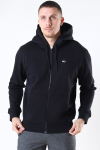 Tommy Jeans Fleece Zip Hoodie Black