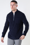 Kronstadt Johan Baby Corduroy half zip shirt Navy