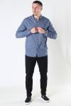Kronstadt Johan Herringbone flannel shirt Navy