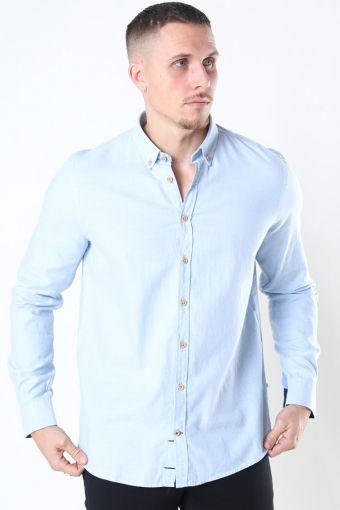 Johan Diego Cotton Shirt Light Blue