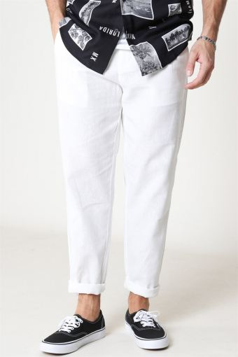 Leo Linen Mix Buks Bright White