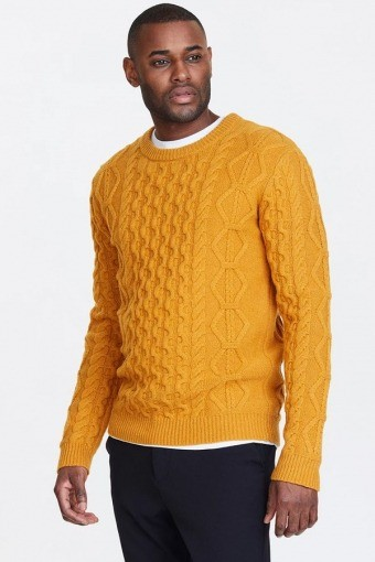 Pigalle Cable Knit Yellow Sunflower