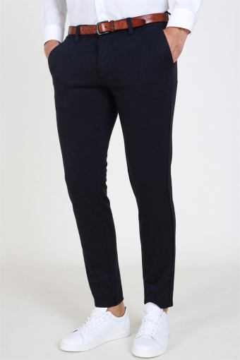 Mark Herringbone Pants Insignia Blue
