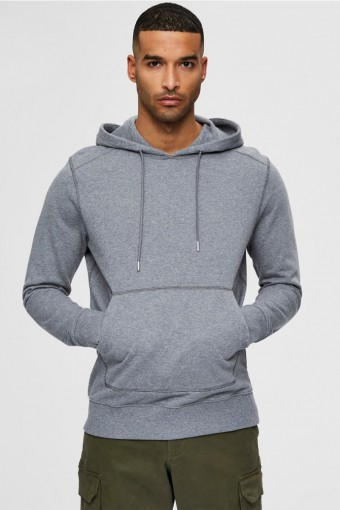 SLHJACKSON380 HOOD SWEAT S NOOS Medium Grey Melange