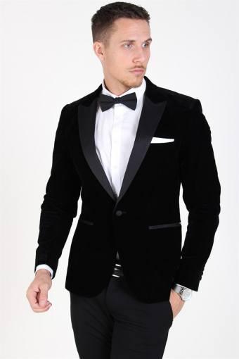 Manny Velvet Tux Blazer Black