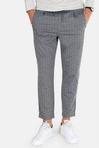 Vega Trash Pinstripe Dark Grey Melange