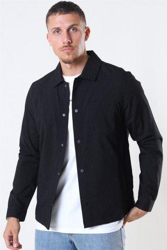 Brenti Stripe Shirt Black