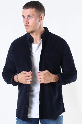 Bennet LS Reg Baby Cord Shirt Dark Navy