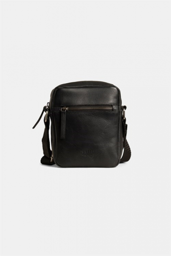 Clean Small Zip Messenger Taske Black