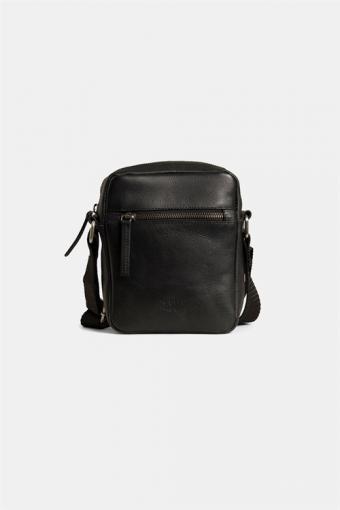 Clean Small Zip Messenger Bag Black