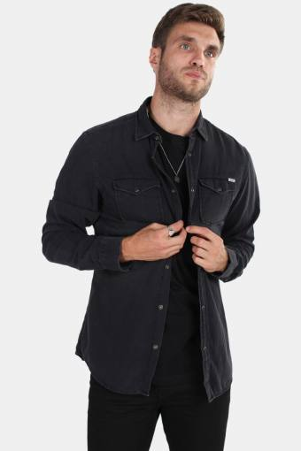Sheridan Shirt LS Black Denim