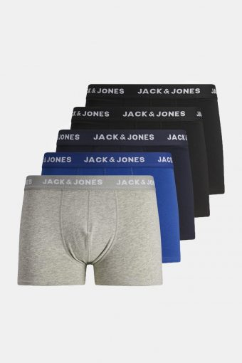 JACBASIC PLAIN TRUNKS 5 PACK A-24 TRUNKS