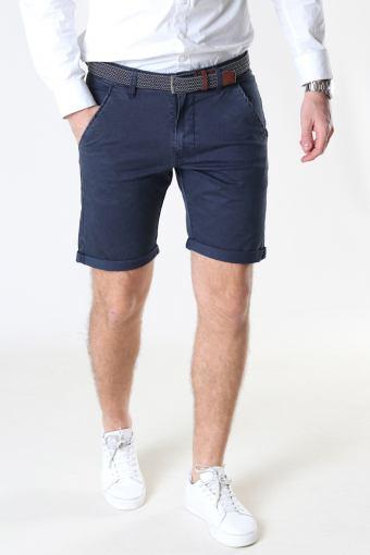 Louis Navy Shorts + belt