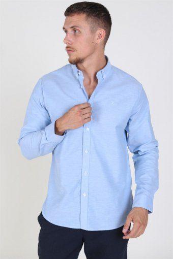 Clean Cut Oxford Plain Shirt Light Blue