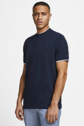 JPRBLASTRETCH SS MAO POLO STS New Navy REG FIT