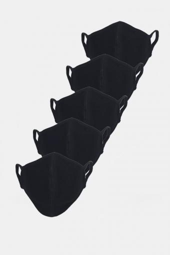 Stretch Mundbind 5-pack Black