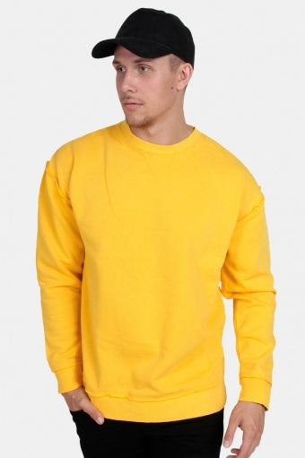 Oversized Open Edge Crew Sweatshirts Chrome Yellow