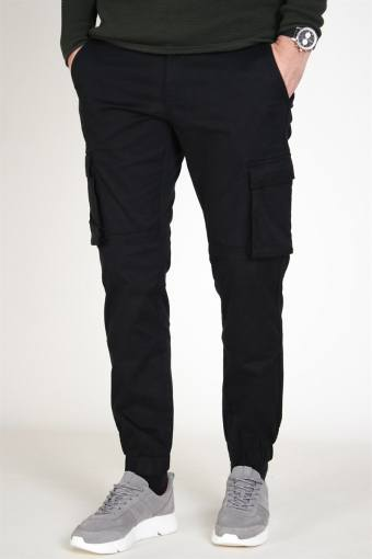 Cam Stage Cargo Cuff Pants Black