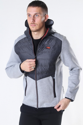 Jack & Jones Toby Hybrid Jakke Light Grey Melange
