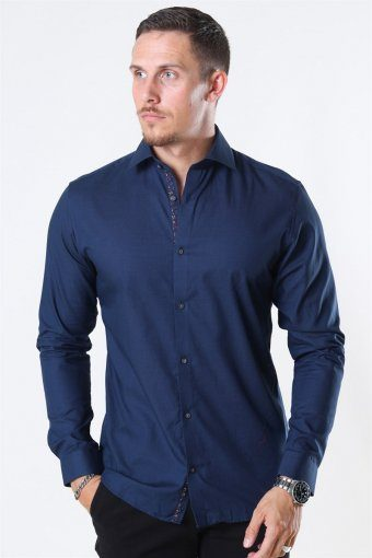 Viggo Dobby Shirt Navy Blazer