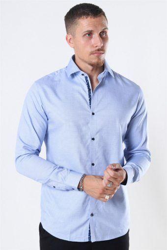 Viggo Dobby Shirt Cashmere Blue